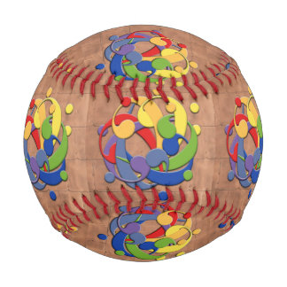 Bass Clef Rainbow Puzzle on Copper Shingles Baseball