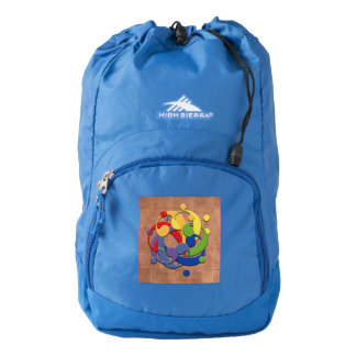 Bass Clef Rainbow Puzzle on Copper Shingles High Sierra Backpack