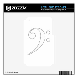 Bass clef skins for iPod touch 4G