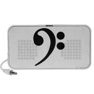 Bass Clef Travelling Speakers
