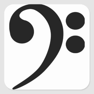 Bass Clef Square Sticker