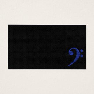Bass Clef Symbol. Blue Musician Business Card