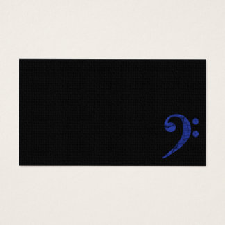 Bass Clef Symbol Blue Musician Business Card