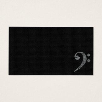 Bass Clef Symbol Grey Musician Business Card