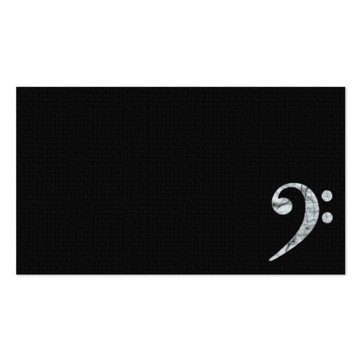 Bass Clef Symbol White Musician Business Card