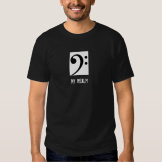 Bass Clef Tuba Shirt in Black