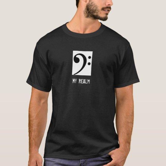 Bass Clef Tuba Shirt in Black