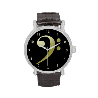 Bass Clef Watch 2 by Leslie Harlow