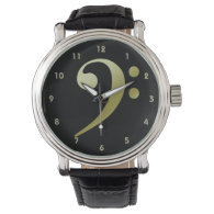 Bass Clef Watch 3 by Leslie Harlow