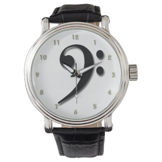 Bass Clef Watch by Leslie Harlow
