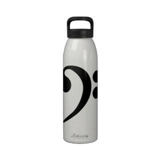 Bass Clef Water Bottles