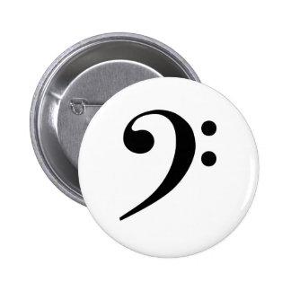 Bass Cleff Pinback Button