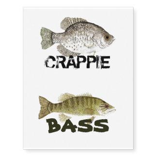 Bass & Crappie Tattoos