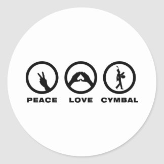 Bass Cymbal Round Stickers