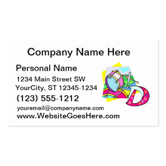Bass drum and letter D graphic colourful image Double-Sided Standard Business Cards (Pack Of 100)