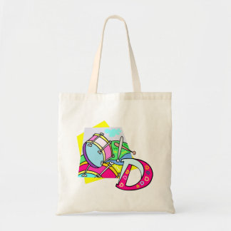 Bass drum and letter D graphic colourful image Tote Bag