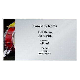 Bass Drum at Parade - Platinum Finish Double-Sided Standard Business Cards (Pack Of 100)