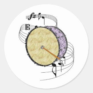 Bass Drum Classic Round Sticker