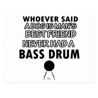 bass drum Dance Designs Postcard