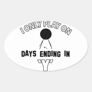 bass-drum design oval sticker