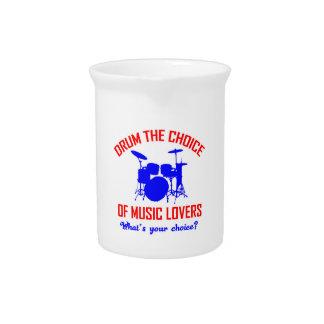 Bass Drum instrument design Beverage Pitchers