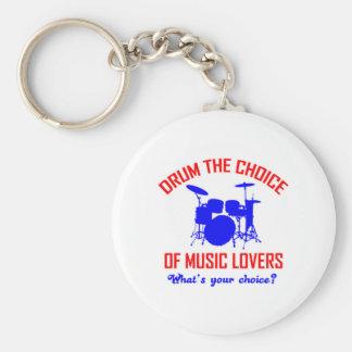 Bass Drum instrument design Keychain