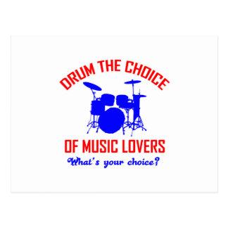 Bass Drum instrument design Postcard