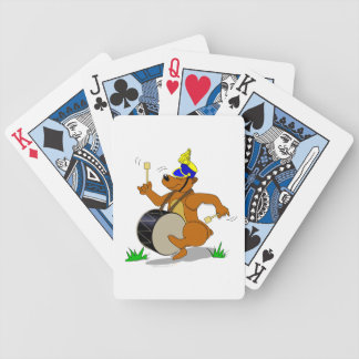 Bass Drum Marching Band Bear Playing Cards Deck