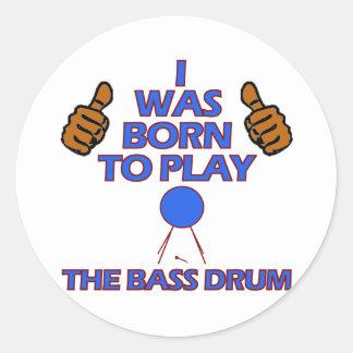 bass drum Musical designs Classic Round Sticker