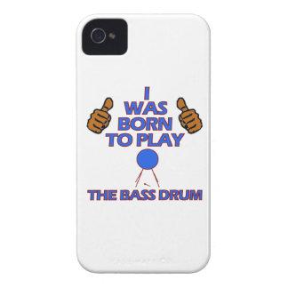 bass drum Musical designs iPhone 4 Case