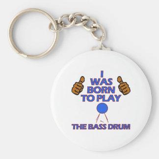 bass drum Musical designs Basic Round Button Keychain