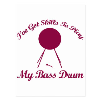 bass drum musical designs post cards
