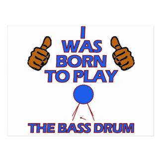 bass drum Musical designs Postcard