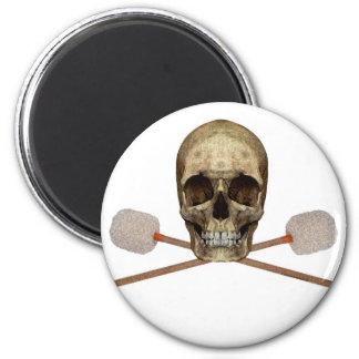 Bass Drum Pirate 2 Inch Round Magnet