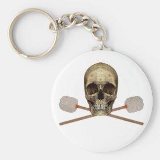 Bass Drum Pirate Basic Round Button Keychain