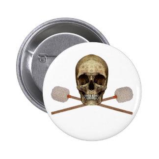 Bass Drum Pirate Pin