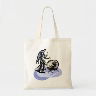 Bass Drum Player Tall Figure Orchestra Bass Tote Bag