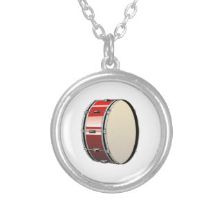 Bass Drum Silver Plated Necklace