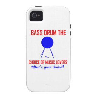 bass drum  the choice of music lovers vibe iPhone 4 covers