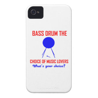 bass drum  the choice of music lovers iPhone 4 cases