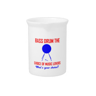 bass drum  the choice of music lovers drink pitcher