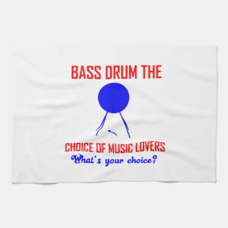 bass drum  the choice of music lovers towels