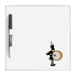 bass drummer marching black abstract.png Dry-Erase board