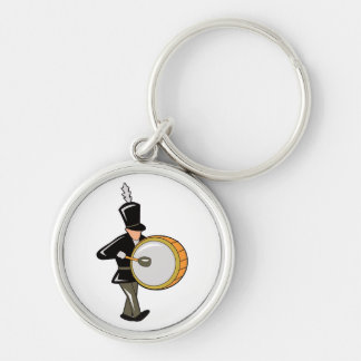 bass drummer marching black abstract.png keychain