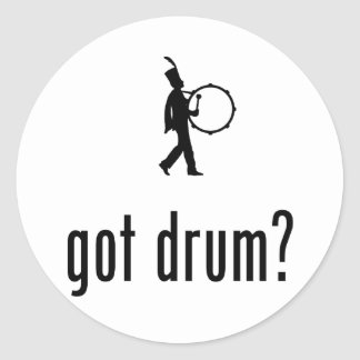 Bass Drummer Round Sticker