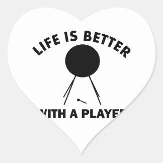 Bass drums vector designs heart sticker