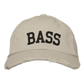 Bass Embroidered Hat Baseball Cap