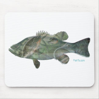 Bass feeding inside the bass-Great Mural effect Mouse Pad