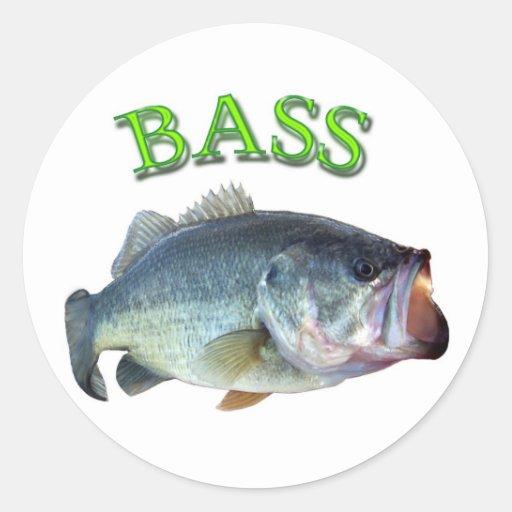 bass fish 14 classic round sticker