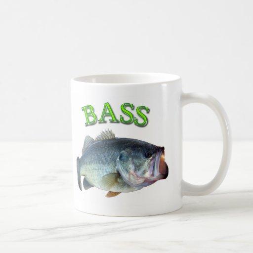 bass fish 14 classic white coffee mug